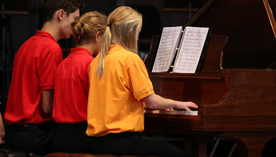 student piano
