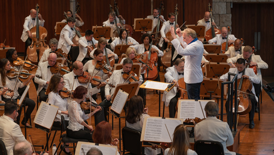 orchestra performing