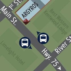 Bus stops near the Argyros