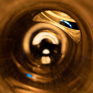 Inside of a flute