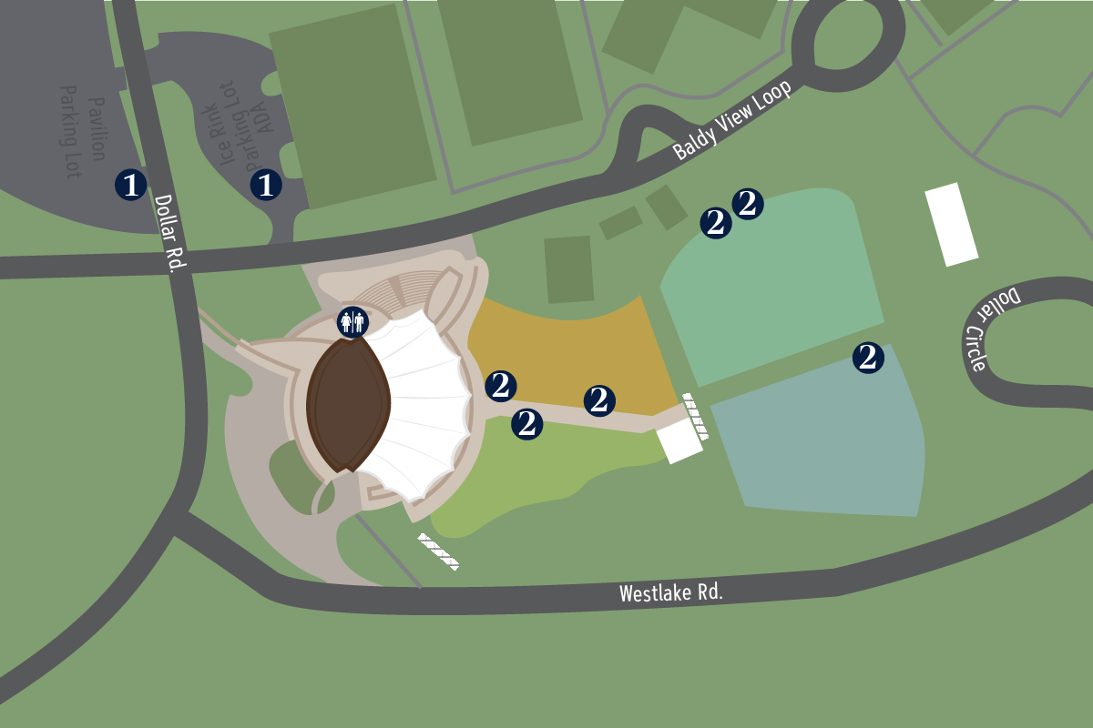 Map of Pavilion and lawn