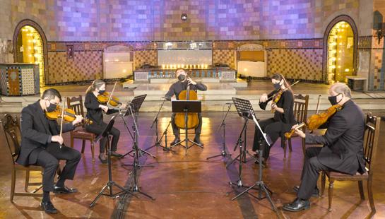Quintet performing